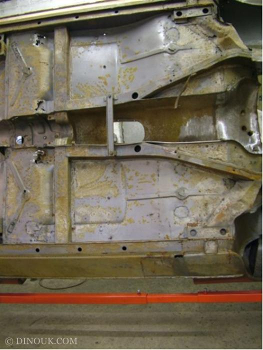 holes in the front floor pans