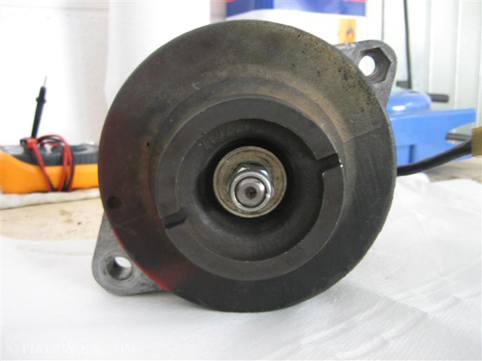 Alternator view of pulley